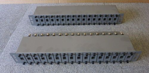 Joblot 2 x CEI LTD 16 PCB Removerable Port RJ45 to BNC Patch Panel Grey